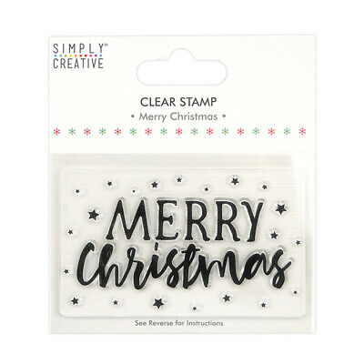 Merry Christmas - Large Clear Stamp - Simply Creative - Christmas • 1.50£