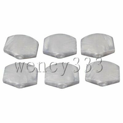 $ CDN7.94 • Buy 6x Guitar Locking Tuner Peg Knobs Pearl Machine Head Buttons Handle White