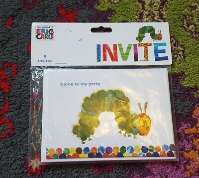 Eric Carle The Hungry Caterpillar Party Invitations (8) BNIP  • 3£