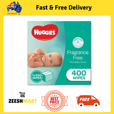 AU18.69 • Buy HUGGIES Baby Wipes Fragrance Free Baby Wipes 400 Wipes Refill Pack