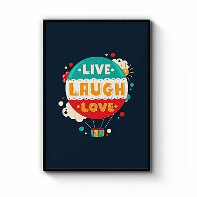 Live Love Laugh  Travel Inspirational Wall Art Print Poster Framed Or Canvas • 111.18£