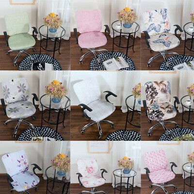 AU16.88 • Buy Office Computer Chair Covers Spandex Stretch Swivel Rotate Seat Protector Decor