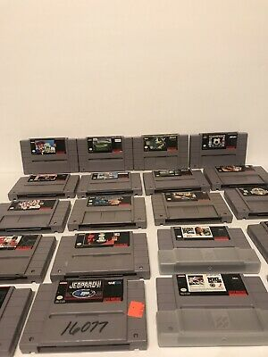 $ CDN131.81 • Buy LOT OF 20!! Super Nintendo SNES Video Game Lot Collectibles