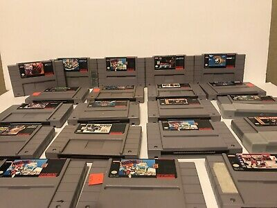 $ CDN131.81 • Buy LOT OF 22!!Super Nintendo SNES Video Game Lot Collectibles