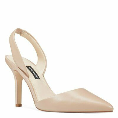 AU37.90 • Buy Nine West NWMEREDITH Sling Back Size 7 1/2 TAUPE/Nude With BOX