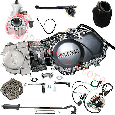 £403.55 • Buy Lifan 125cc Engine Motor W/ Wires,Exhaust For Honda CRF50 CRF70 Pit Dirt Bike