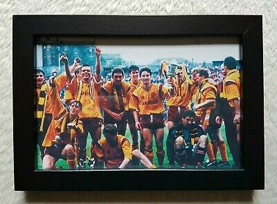 1991 Scottish Cup Winners Motherwell FC Photo Picture Framed Birthday Fan Gift • 13.95£