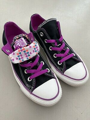 Converse All Star Double Tongue Heart Print Baseball Trainers Pumps UK 4 New ! • 16.99£