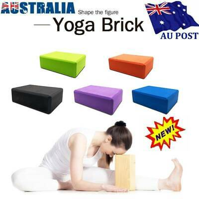 AU14.99 • Buy Yoga Block Pilates Foam Foaming Brick Gym Home Indoor Fitness Exercise Tool AU