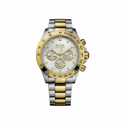Mens Hugo Boss Ikon Chronograph Two-Tone Silver Gold Watch HB1512960 • 99.99£