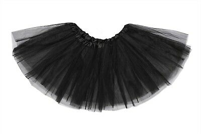 Black Tutu Skirt Girls Ladies Small / Large Halloween Ballet Dance Party Quality • 3.79£