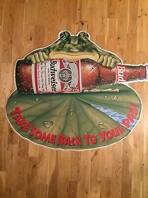 $ CDN105.70 • Buy Budweiser Anheuser-Busch Frog Take Some Home To Your Pad Metal Sign 1995