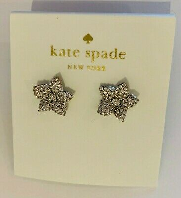 $ CDN23.78 • Buy Kate Spade New York Pavé Flower Stud Earrings Silver Tone