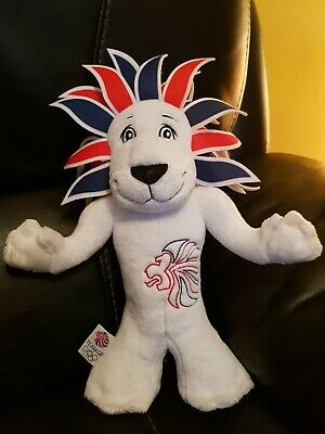 London 2012 Lion Olympic Games Team GB Official Mascot  Toy Plush Collectible  • 4.99£