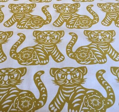 £2.70 • Buy Michael Miller GOLD TIGERS Fabric- GROWL 100% Cotton Fat Quarter 50 X50cm Sewing