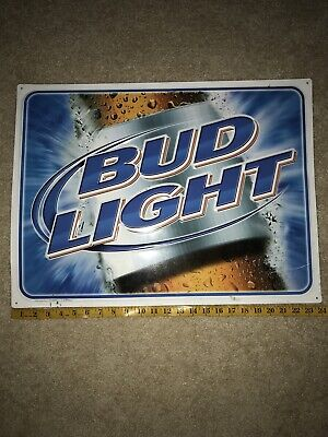 $ CDN26.36 • Buy 2002 Bud Light Metal Beer Sign Man Cave Beer Sign