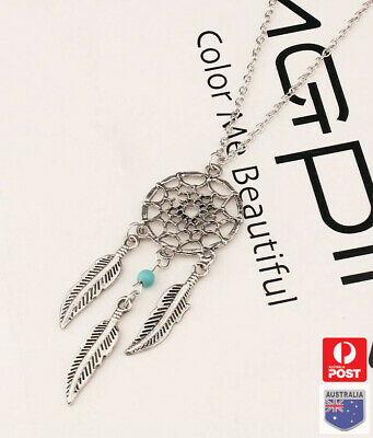 AU7.89 • Buy  Dream Catcher Pendant Chain Necklace For Women Girl Hot Retro Gift Silver Color
