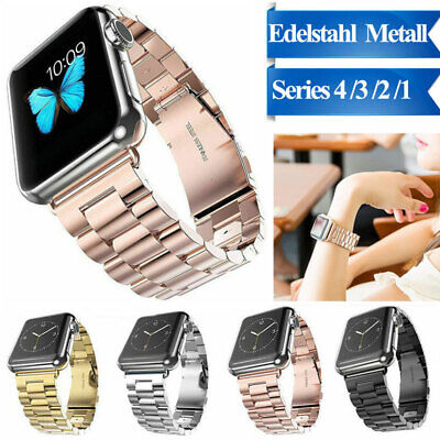 AU8.99 • Buy For Apple Watch IWatch Series 5 4 3 Stainless Steel Watch Band 38/42/40/44mm