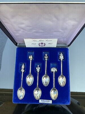 SPOONS- Silver Plated X6- Exquisite  -  Royal Silver Jubilee -boxed-see Pics • 5£