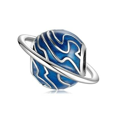 AU25.99 • Buy SOLID Sterling Silver Planet Saturn Charm By Pandora's Wish