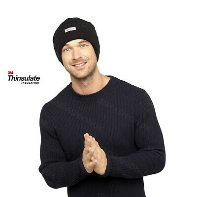 £6.99 • Buy Mens Waterproof Membrane Thinsulate Lined Beanie Hat 3M WindProof Thermal Hats
