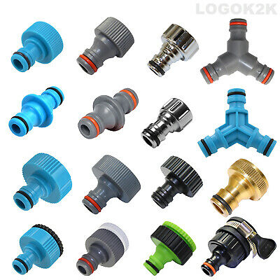 Tap Connector Adaptor Universal Garden Water Fit Hose Pipe Tap Brass Adapter • 3.49£