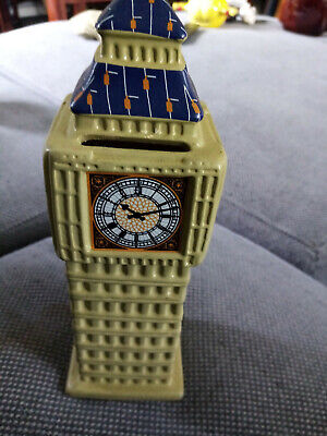 Big Ben Money Box Piggy Bank Made From Ceramic • 12£