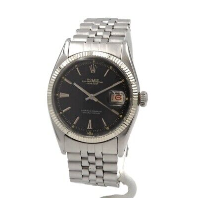 $ CDN3173.71 • Buy Rolex Oyster Perpetual Datejust Ss Roulette Dial Jubilee Ref 6605 Nr #8722