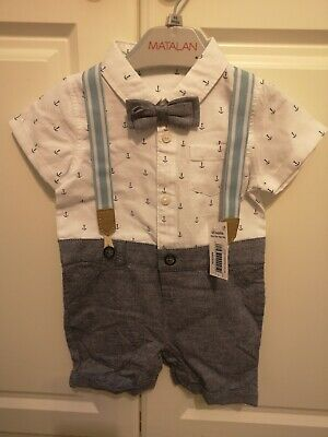 Matalan Shirt Tie Baby Outfit Wedding Occasion 6-9 • 2.50£
