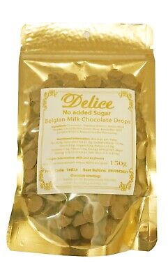 No Added Sugar Belgian Milk Chocolate Drops (34%) Sugar Free Chocolate Chips  • 5.99£