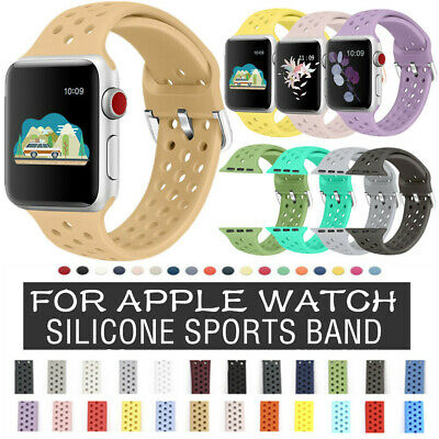 $ CDN27.06 • Buy For Apple Watch Series 5 4 3 2 1 38/40/42/44mm Solicone Sport Band Strap 8 PACK
