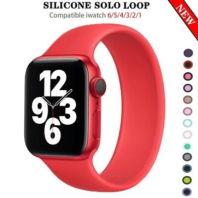 $ CDN9.21 • Buy Apple Watch 6 Solo Loop StrapBand 44mm 40mm IWatch Bands 38mm 42mm Belt Silicone