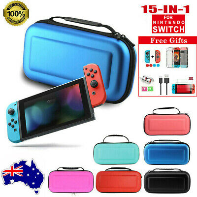 AU23.89 • Buy For Nintendo Switch Carrying Case Bag+Hard Cover+Charger Cable+Screen Protectors