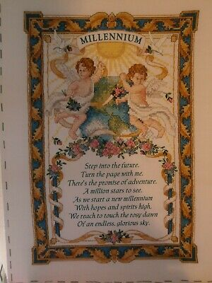 Finished ~ Completed ~ Cross Stitch ~ Collectable Millenium Cherub's Verse ~MINT • 6£