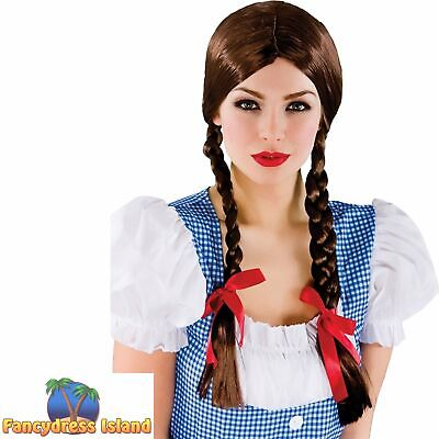£7.39 • Buy Dorothy Country Girl Plaited Wig Wizard Of Oz Adult Ladies Fancy Dress Costume