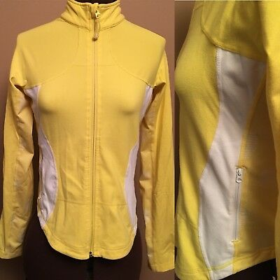 $ CDN34.99 • Buy Lululemon Woman Size 8 Shape Forme Jacket Run Luon Jacket Yellow White Full Zip