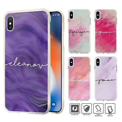 AU9.95 • Buy Personalised Marbel Case Cover For IPhone 11 Pro XS MAX XR X 8 7 SE 6 6S Plus 84