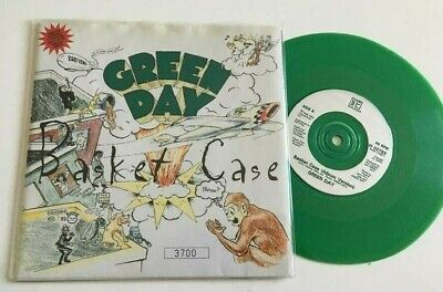 Green Day‎ Basket Case 7  Green Vinyl Poster Bag 1994 W0279X Numbered 3700 • 21.99£
