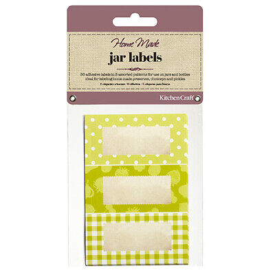 Home Made Pack Of Thirty Self-Adhesive Jam Jar Labels - Garden Green • 7.41£