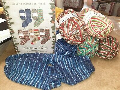 West Yorkshire Spinners - Signature 4 Ply Christmas Collection 100g-& Pattern Bk • 8.90£