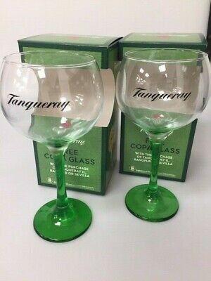2 X Tanqueray Gin Large Green Steamed Balloon Glass. BOXED.COLLECTABLES New Desi • 10.99£