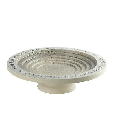 Outdoor Tiered Bird Bath Bowl -Birdbath Drinker With Pedestal, W.H. Davies Quote • 59.48£