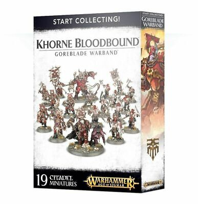 AU129.95 • Buy Start Collecting! Khorne Bloodbound Goreblade Warband AOS