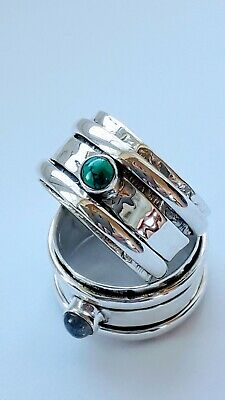 Sterling Silver Turquoise Spinning Ring • 20£