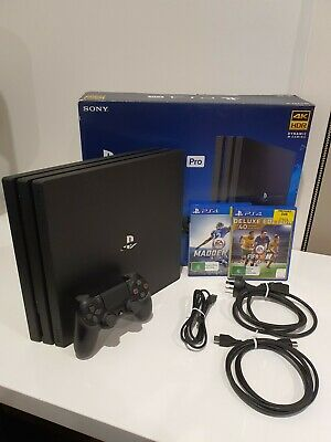 AU468 • Buy Sony PlayStation 4 Pro Jet Black 1TB PS4 Console + 2 PS4 Games