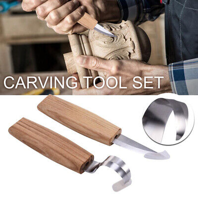 £6.89 • Buy Spoon Carving Cutter TOP SET Woodcarving Tool Hook Whittling Beaver Craft