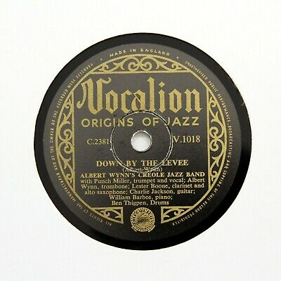 ALBERT WYNN'S CREOLE JAZZ BAND  Down By The Levee  VOCALION V-1018 [78 RPM] • 9.95£