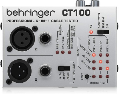 £19.59 • Buy Behringer 6-In-1 CT100 Cable Tester