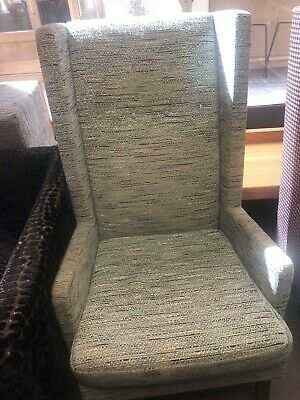 2 X Wingback Armchairs. Upholstered In Designers Guild Fabric • 19£