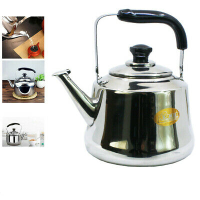 Stainless Steel Whistling Tea Coffee Kettle Teapot Camping Boat Restaurant Stove • 17.95£